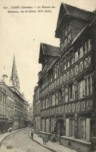 CPA CAEN - La Maison des Quatraus rue de Géole (141339)