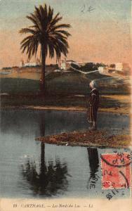 Tunisia Carthage Les Bords du Lac Lake Postcard