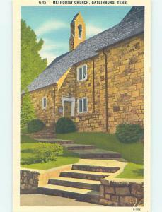 Linen CHURCH SCENE Gatlinburg Tennessee TN AD0971
