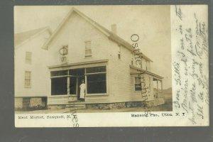 Sauquoit NEW YORK RPPC 1907 GENERAL STORE nr Utica Oneida Herkimer Madison