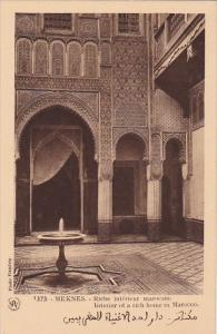 Morocco Meknes Riche interieur marocain