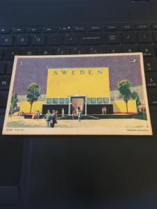Vintage Postcard; Sweden, Swedish Building