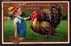 Thanksgiving Boy With Ax Turkey BIN