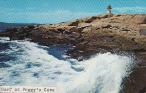 Canada Surf at Peggy's Cove with Lighthouse