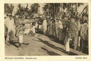 indonesia, CELEBES SULAWESI MANADO, Tjakalele Alfur War Dance (1930s) Postcard