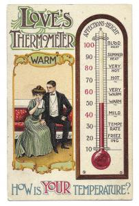 'Love's Thermometer, How is Your Temperature?' unmailed London Series, Germany