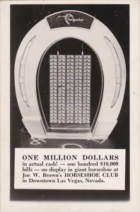 Million Dollar Display Horseshoe Club Casino Las Vegas Nevada Real Photo