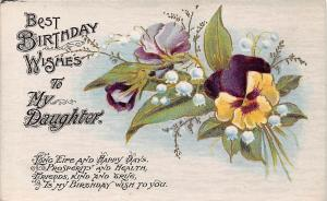 Best Birthday Wishes to My Daughter, pansy, fleurs, flowers