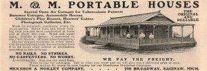 1907 Original Print Ad M. & M. Portable Houses 2P1-6