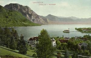austria, GMUNDEN, Schloss Ort von Hochkogel (1906)