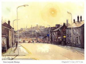 Art Postcard View Towards Mumps Oldham, Lancashire by D. Ford L37