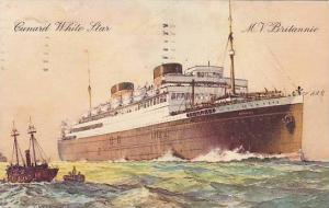 Oceanliner/Steamer/Ship, Cunard White Star, M. V. Britannic, PU-1935