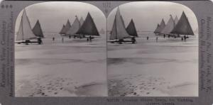 SV: Canadian Winter Sports , Ontario , Canada , 1900-07 ; Ice Yachting