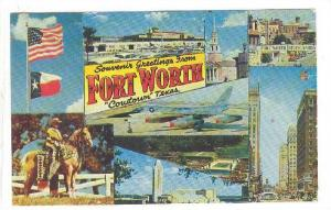 Souvenir Greetings from Fort Worth, Texas, PU_40-60s