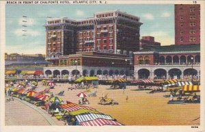 New Jersey Atlantic City Beach In Front Of Chalfonte Hotel