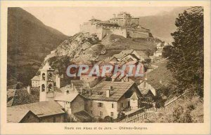 Postcard Old Route Chateau Queyras Alps and Jura