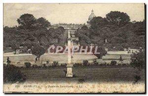 Postcard Old Paris VI Luxembourg Gardens