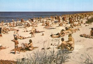 Kolobrzeg Plaza Beach Polish Postcard