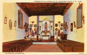New Mexico Isleta Old Church Of St Augustine Interior Curteich