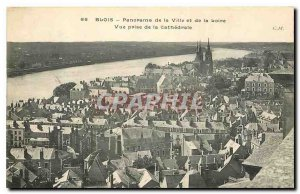 Postcard Old City Panorama Blois and the Loire View from the Cathedral
