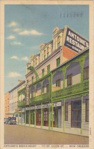 Louisiana New Orleans Antoine's Restaurant 1939 Curteich