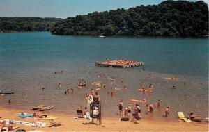 Kirksville Missouri~Swimming Beach in Thousand Hills State Park~Lifeguard~1970s