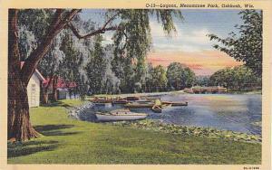 Scenic view, Lagoon, Menominee Park,  Oshkosh, Wisconsin, 30-40s