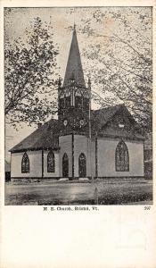 Bristol Vermont~Methodist Episcopal Church~1905 B&W Postcard