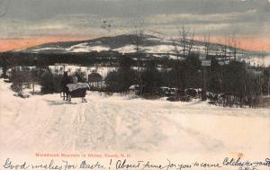 Monadnock Mountain in Winter, Keene, N. H., Very Early Postcard, Used in 1907