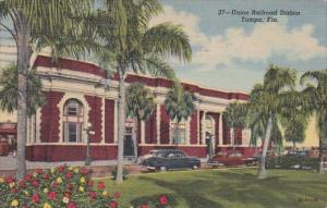 Florida Tampa Union Railroad Station 1962 Curteich