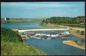 3220) Montana GREAT FALLS Black Eagle Dam - Chrome