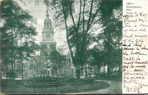 Pennsylvania Philadelphia Independence Hall 1907