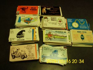 1000 QSL cards,  all United States, All have artwork