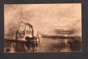 HMS Royal Navy British War Ship Temeraire Painting Turner Postcard Carte Postale