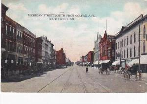 Indiana South Bend Michigan Street South From Colfax Avenue 1908