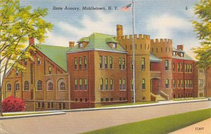 Armory Post Card State Armory Middletown, New York, USA Unused