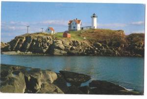 Nubble Light Cape Neddick York Maine ME 1989 Lighthouse
