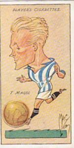 Player Vintage Cigarette Card Football Caricatures By Mac 1927 No 23 T Magee