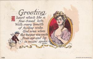Mayer Greeting Beautiful Lady  1906