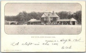 1904 Providence, Rhode Island PMC Postcard Boat House, ROGER WILLIAMS PARK