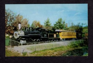 CO Railroad Train Loco 30 Central Park Boulder Colorado Postcard RR PC