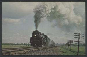 Canadian National 6218 Engine Smoke Vaudreuil Canada Railroad CNR Train Postcard