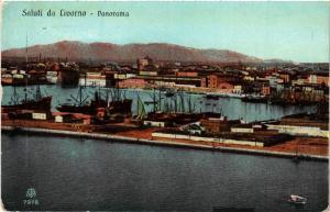 CPA Saluti da LIVORNO Panorama . ITALY (467811)