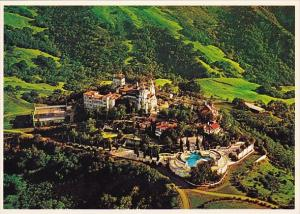 Aerial View Of Hearst Castle And Grounds San Simeon California