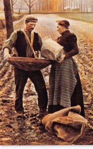 Nostalgia Postcard The Broadcast Seed Sower Reproduction Card #CN12