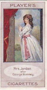 Player Vintage Cigarette Card Bygone Beauties 1914 Mrs Jordan