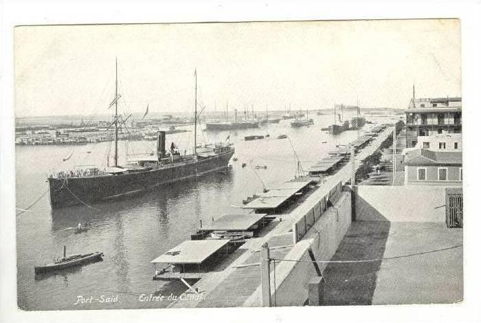 Entree Du Canal, Port-Said, Egypt, Africa, 1900-1910s