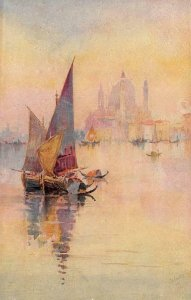 Glorious Venice Sartori Painting Tuck Oilfacsim c1910s Vintage Postcard