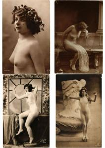 REAL PHOTO NUDES ART EROTIC NUS  ALL ÉTAT POOR CONDITION 16 CPA