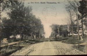 South Thomaston ME Elm St. c1910 Postcard #3